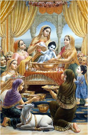 נַנְדַה מַהָארָאגַ'ה חגג את טקס הלידה ברוב שמחה
