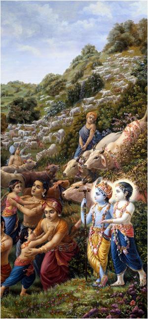 באהבה אבהית הרימו רועי הבקר את ילדיהם לזרועותיהם וחיבקו אותם